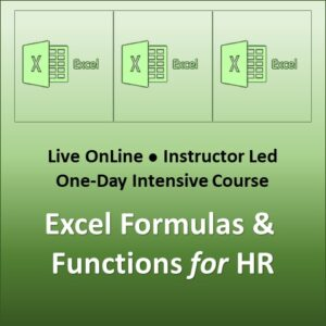 Excel Formulas and Functions for HR Course